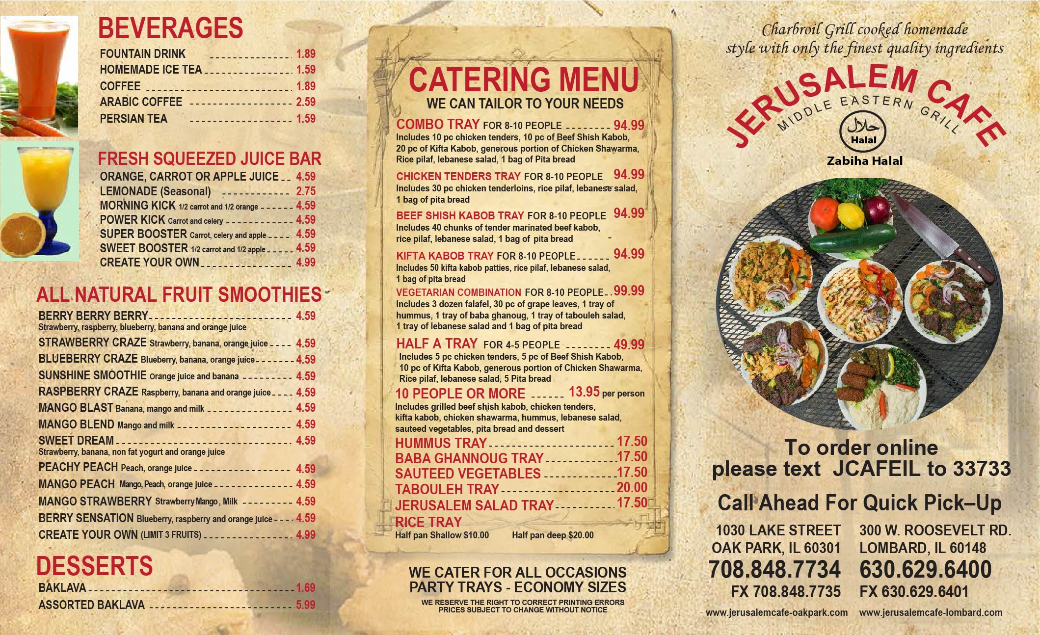 Indian Food Catering Prices Chicago